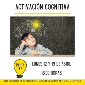EF - abril - activacion cognitiva jardin